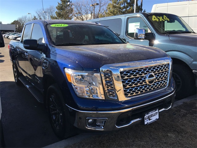 Pre Owned 2017 Nissan Titan Sv 4d Crew Cab In Longmont Jn532663a